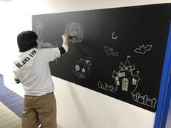 【福岡】黒板アート作成中★☆