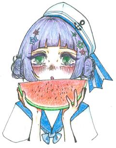 【鹿児島】7月といえば・・・まんが・イラストコースの生徒に描いてもらった!