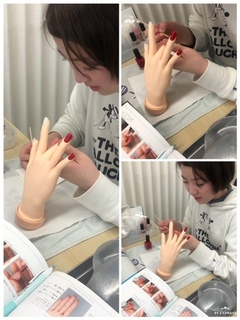 【鹿児島】ネイル授業はいよいよ実技にはいっています!~体験授業もあります~