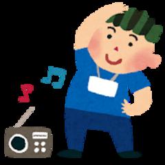 【鹿児島】ラジオ体操をする二人~AI教材体験もするよ~