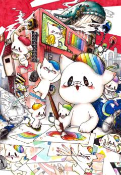 【鹿児島 通信制高校】2020年度イラストコンテスト(チャレンジ★ひゅーにゃん)グランプリ!