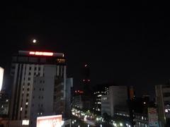 【鹿児島】夜の学校から見た景色