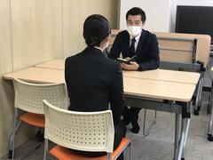 【熊本】就職面接の練習をしています。