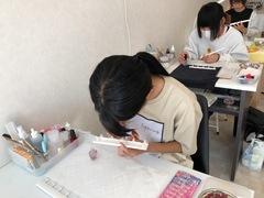 【名護本校】ネイル授業 カラーリング