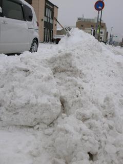 重~い雪で先生の体が・・・・?!