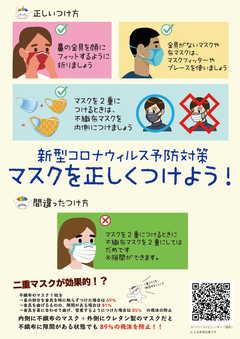 【名古屋】マスクを正しくつけよう!