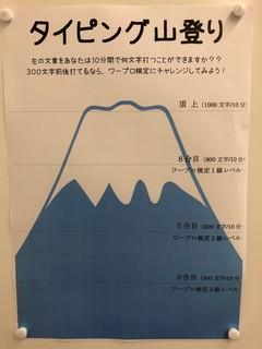 【那覇】タイピングで山登り?