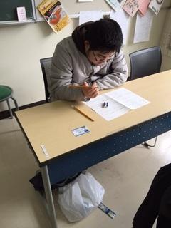 【佐渡】後期試験が行われました!