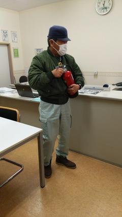 避難訓練と消火訓練【十日町学習センター】