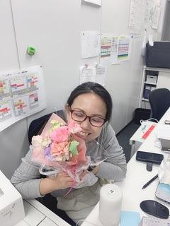 【大宮第二】生徒から花束を頂きました♡