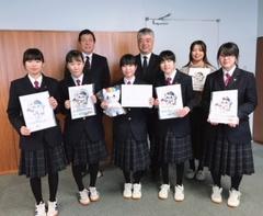 【仙台】会津学鳳中学校にてイラストコンテスト表彰式を行いました