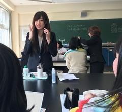 【仙台】伊具高校にてメイクセミナーを行いました。