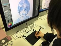 【仙台】CGイラストの授業風景レポ★ペンタブ練習中~