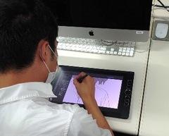 【仙台第二】授業の様子「デジタルイラスト」