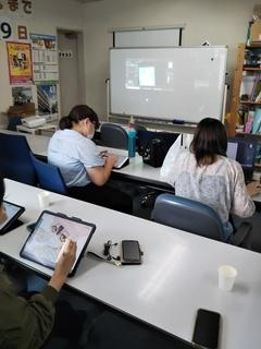 【立川校】本日のデジタルイラスト授業