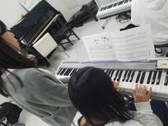【保育】ピアノの授業の様子^^