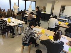 【宇都宮】1月の美術の授業風景