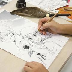 【神戸】ペン入れとトーン貼り【漫画家体験】